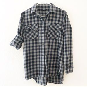 Madewell Flannel Ex-Boyfriend Shirt Buffalo Check